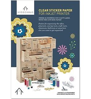 image regarding Printable Contact Paper named : Silhouette Media-CLR-ADH Printable Apparent Sticker