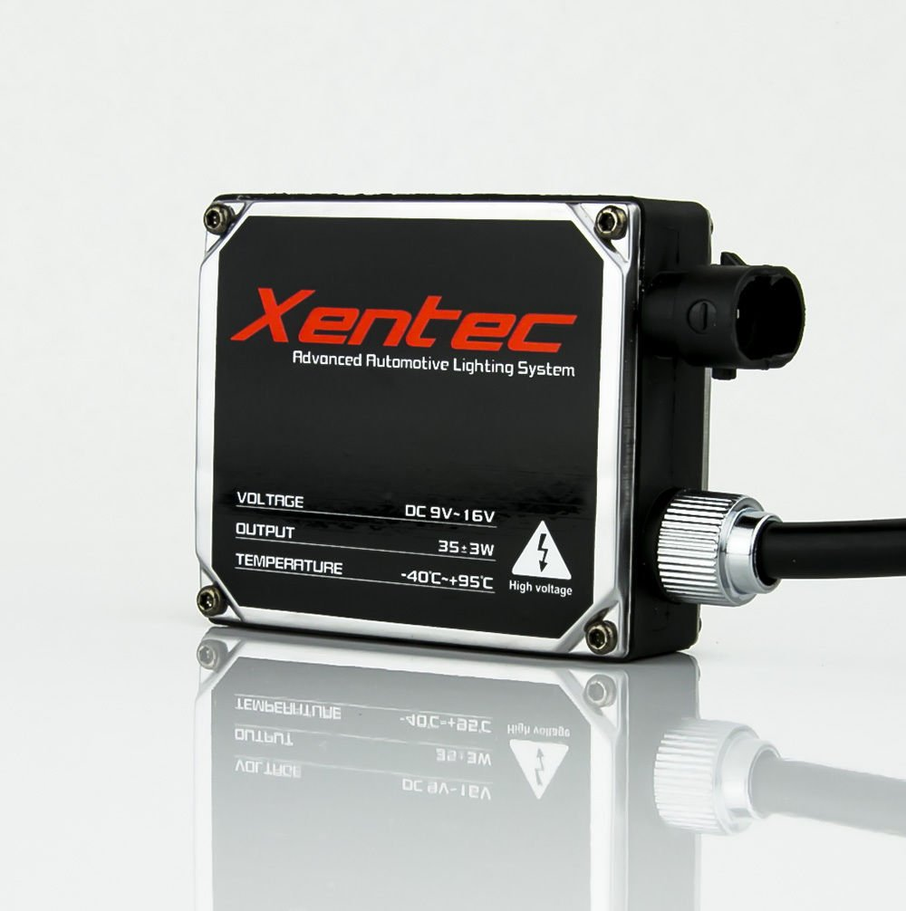 Xentec 9007 6000k High Low Hid Kit Compatible With 9004 Relay Wiring Diagram Free Picture Hb5 Beam Halogen Standard Size Ballast Cool White Automotive