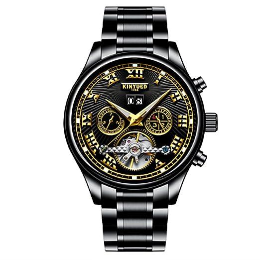 Hombre Juventud Reloj Todos los relojes mecánicos de acero Deportivo de Vestir Esqueleto de Moda El