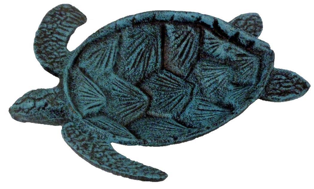 Chesapeake Bay Cast Iron Sea Turtle Decorative Bowl (Blue) by Chesapeake Bay