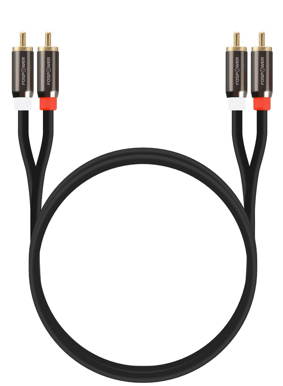 Alto Calidad 2RCA Enchufe FosPower Cable de Audio RCA 1,82m//6ft 2 RCA M//M Cable de Audio est/éreo Macho a Macho 24K Oro Ba/ñado | Cobre Core