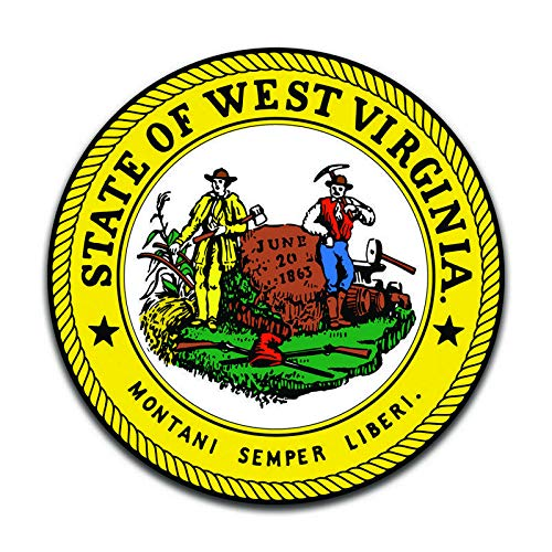 More Shiz West Virginia State Seal (2 Pack) Vinyl Decal Sticker - Car Truck Van SUV Window Wall Cup Laptop - Two 5 Inch Decals - - Virginia Seal