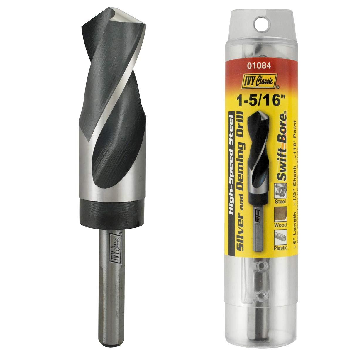 1//2 Shank Ivy Classic 01084 1-5//16 x 6 Silver /& Deming Drill Bit