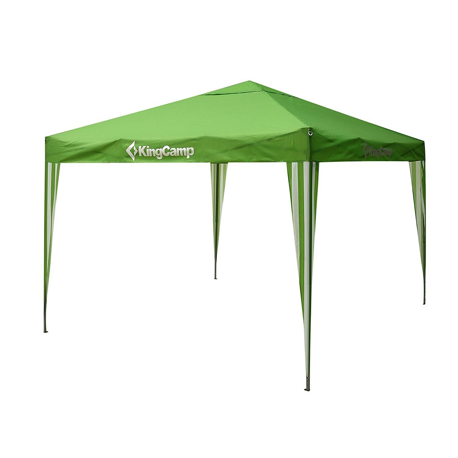 KingCamp Canopy 10 x 10 Feet Outdoor Instant Tent Camping Sun Shade Portable Folding Collapsible with Easy-Pull Roller Wheeled Carry Bag
