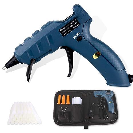 Duomishu 50W Pistola de Silicona Caliente Pistola de Pegamento Profesional Con 30pcs Barras de Pegamento para Manualidades (7mm * 15cm)