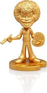 """Bob Ross Happy Tree Collectible 6"""" Figure Statue by Toonies - Gold Variant Version - Unique Novelty Gift for Birthdays, Holidays"""