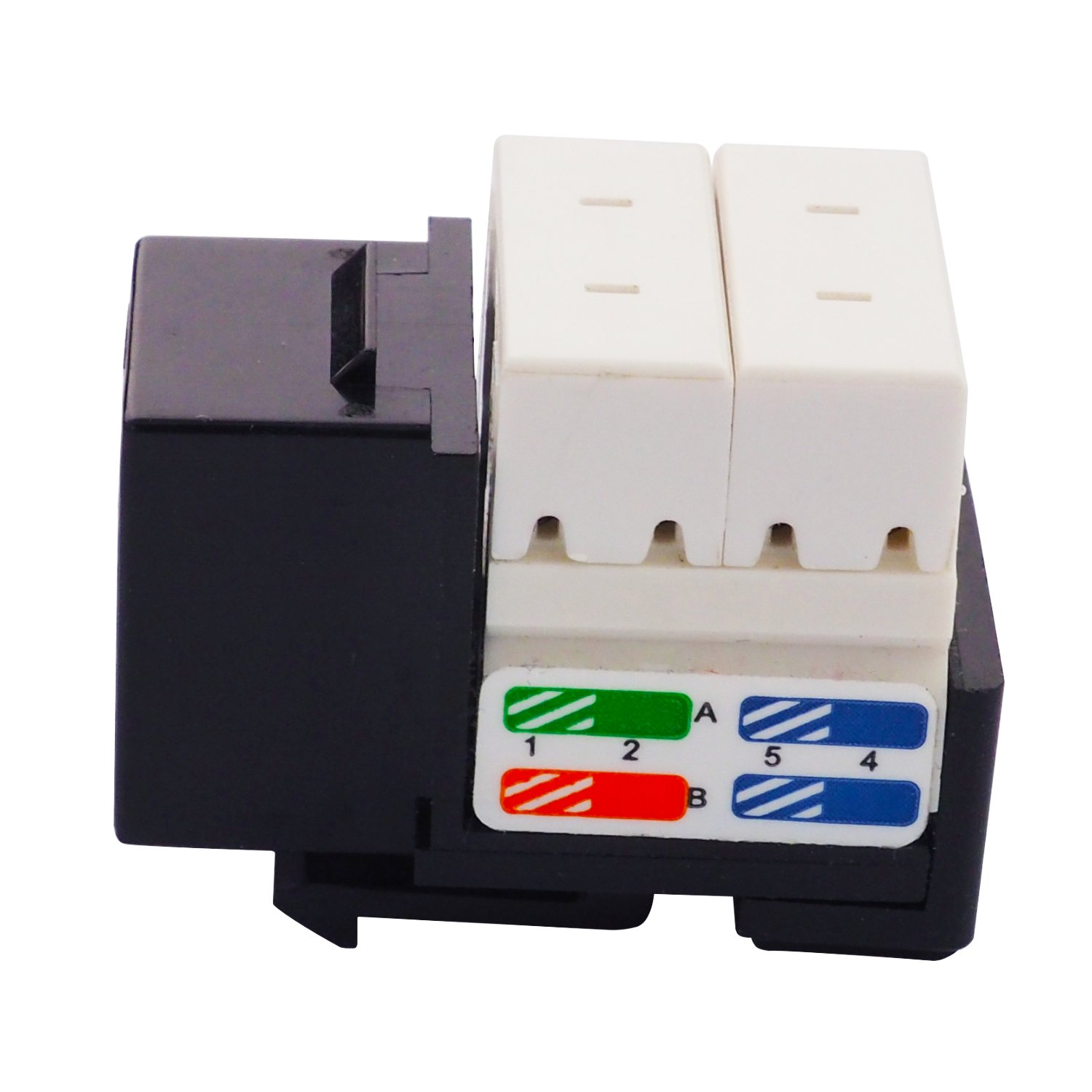 LINKOMM 50-Pack RJ45 Cat6A Slim Profile UTP Unshielded Keystone Jack with Punch Down Palm Holder Yellow