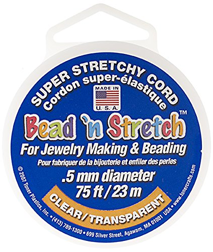 Cord Stretch Knot (John Bead Outlet 25003040-02 Bead 'N Stretch Cord Clear Stretch Cord)
