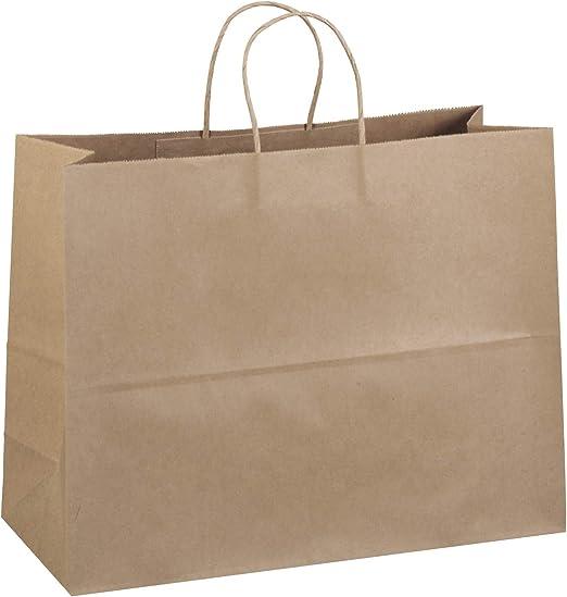 Amazon.com: 50 Bolsas de papel kraft con asas de cuerda ...