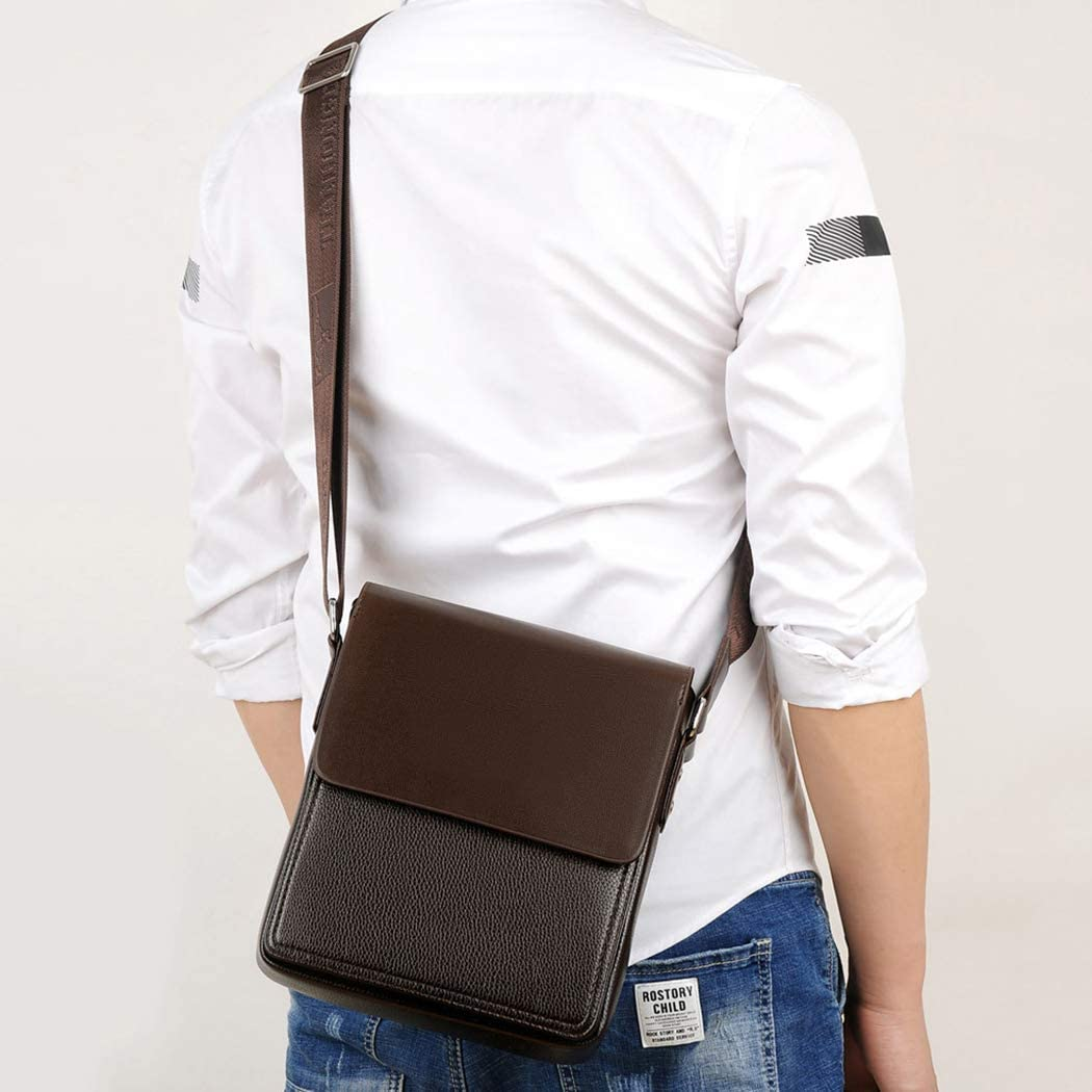 Mens leather shoulder bag Messenger bag mens bag shoulder bag Messenger bag business bag leisure