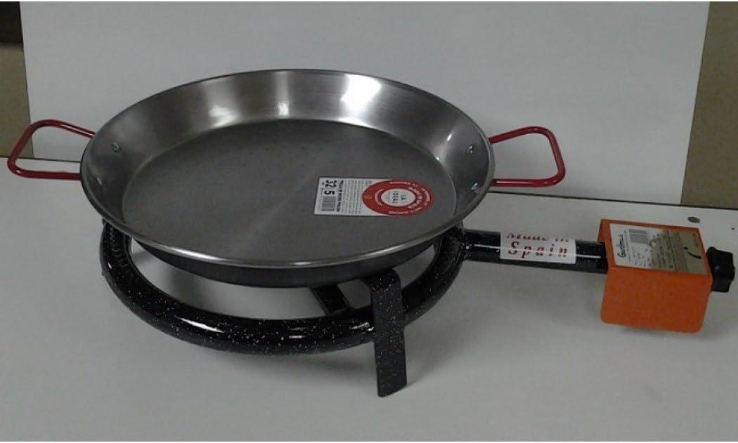 Garcima 70003 - Paellero gas butano 1 fuego 30cm + p.32cm h. m300 la ideal: Amazon.es: Bricolaje y herramientas