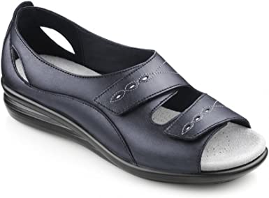 Hotter Womens Florence Navy Leather