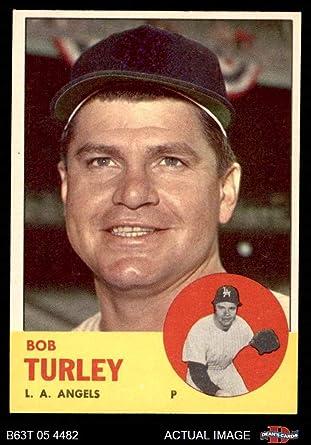 1963 Topps #322 Bob Turley Los Angeles Angels Baseball Card