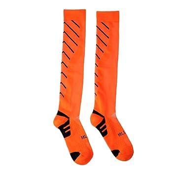 FLAMEER 1 Par de Calcetines Largos Antideslizantes de Fútbol Baloncesto Voleibol Excelente Vestido de Adultos para
