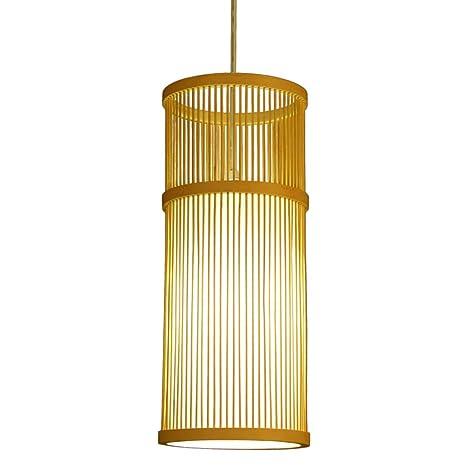 LYM Lámparas Colgantes Araña Hecha a Mano de bambú Comedor ...