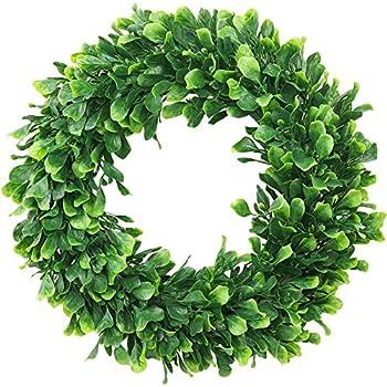 ElaDeco Faux Boxwood Wreath 16
