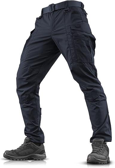 Amazon Com Conquistador Flex Pantalones Tacticos Hombre Con Bolsillos De Carga Moldeado 28 Cintura X 32 Largo Azul Marino Clothing