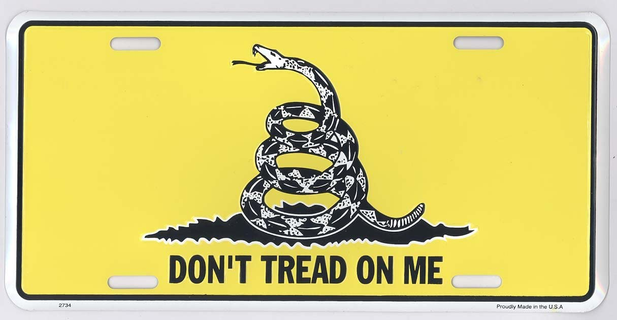 Dont Tread on Me Metal License Plate