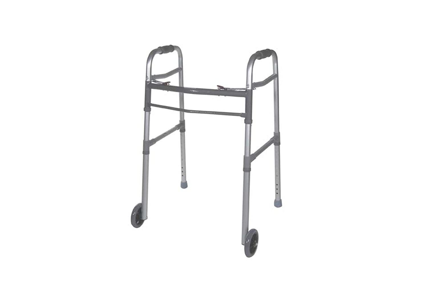 Drive Medical Two Button Folding Universal Walker with 5' Wheels