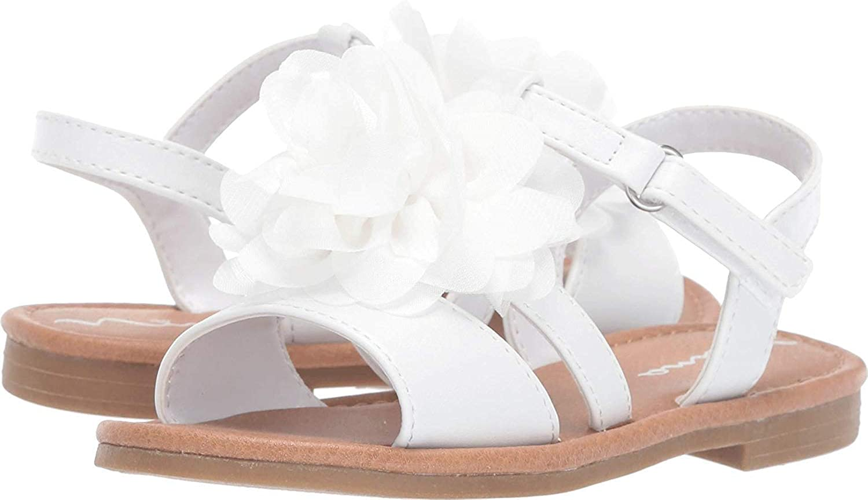 Kids Nina Girls Anaya-T Leather Ankle Strap Flip Flops