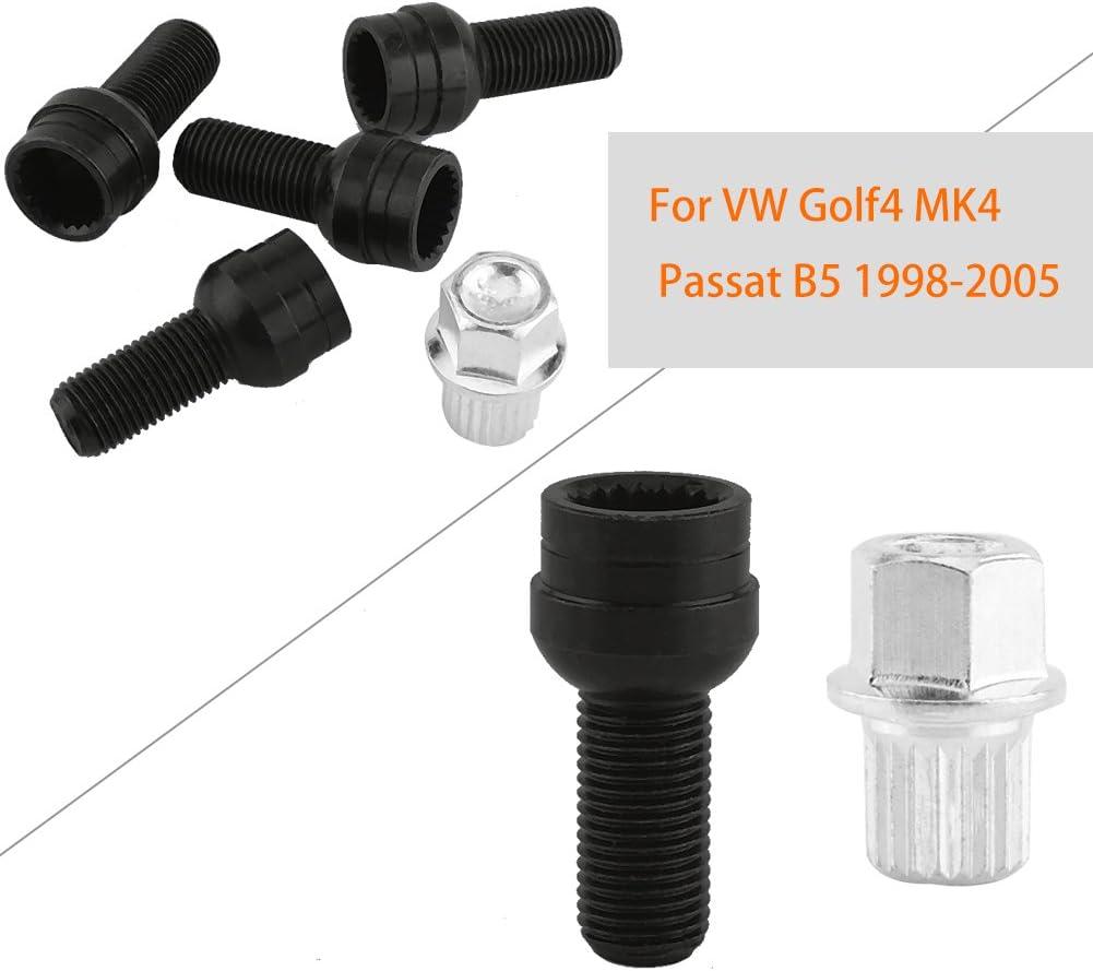 1 Boulons de Roue avec /Écrou de Blocage avec Cl/é pour Golf-4 M-Pass B5 1998-2005 8D0601139F SANON 4