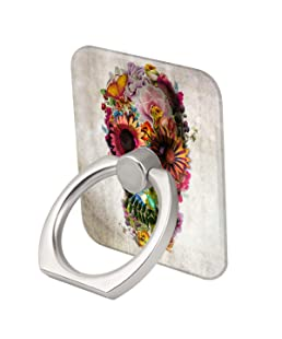 Skull Flowers Ring Phone Holder Stand Mounts for iPhone iPad, Samsung Other Smartphones
