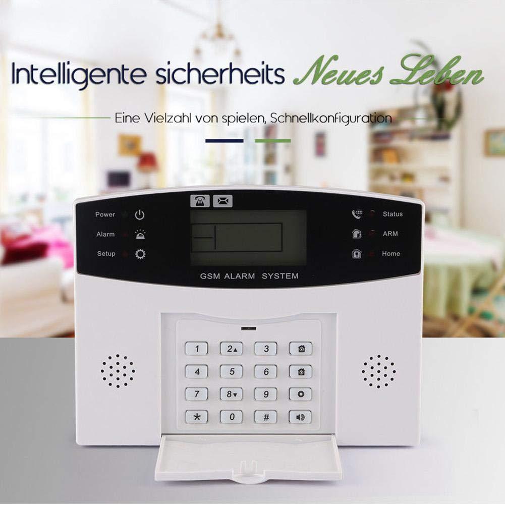 Sistema de seguridad de alarma Chen0-Super Home, inalámbrico GSM mando a distancia inteligente pantalla LED de voz para casa oficina Business Burglar ...