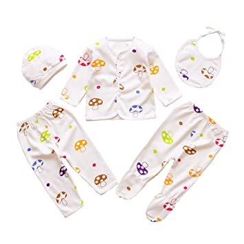 Fineser TM 2pcs New Born Baby Girls Boys Letter Feeder Clothes Set Cotton Hooded Tops+Pants Outfits