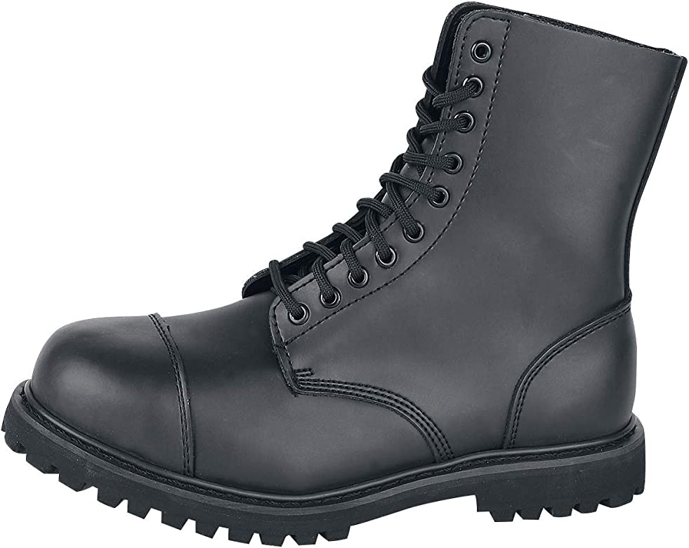 BRANDIT ARMY MILITARY PHANTOM BOOTS 10 HOLE CADET POLICE GUARD LEATHER