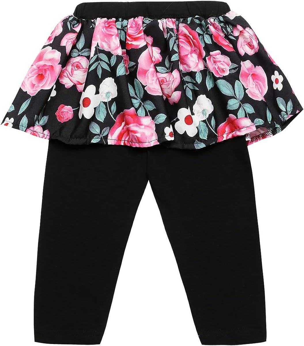 3PCS Baby Girls Outfit Clothes Set Floral Vest Shorts Headband