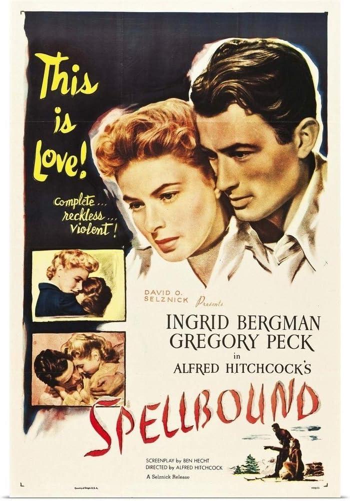 Amazon.com: GREATBIGCANVAS Spellbound - Vintage Movie Poster ...