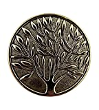 Silver Tone Tree of Life Pocket Token with Serenity