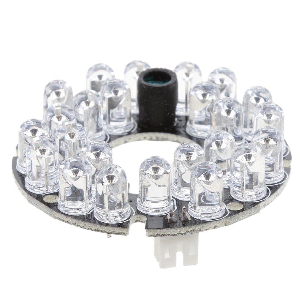 F Fityle Lampe De Lumi/ère Illumin/ée Infrarouge IR De Vision Nocturne De 24 LED pour Cam/éra De S/écurit/é