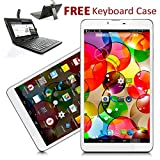Indigi® 7'' Android 4.4 KitKat Tablet PC GSM 3G SmartPhone [Keyboard Case Bundled]
