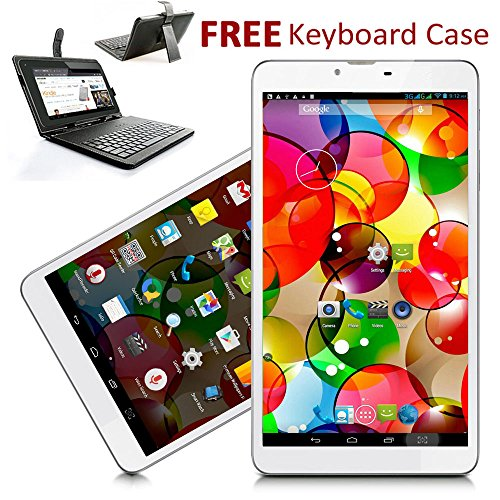 Indigi® 7'' Android 4.4 KitKat Tablet PC GSM 3G SmartPhone [Keyboard Case Bundled] by inDigi