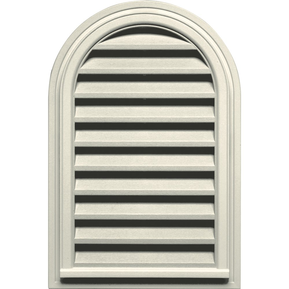Builders Edge 120082232082 22'' x 32'' Round Vent Top 082, Linen
