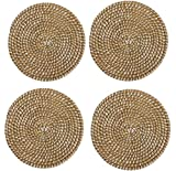 Mud Pie Veranda Collection, Seagrass Charger, Set of 4, 15'' Diameter