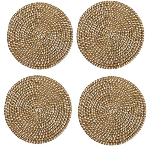 Mud Pie Veranda Collection, Seagrass Charger, Set of 4, 15'' Diameter by Kristin's Great Finds