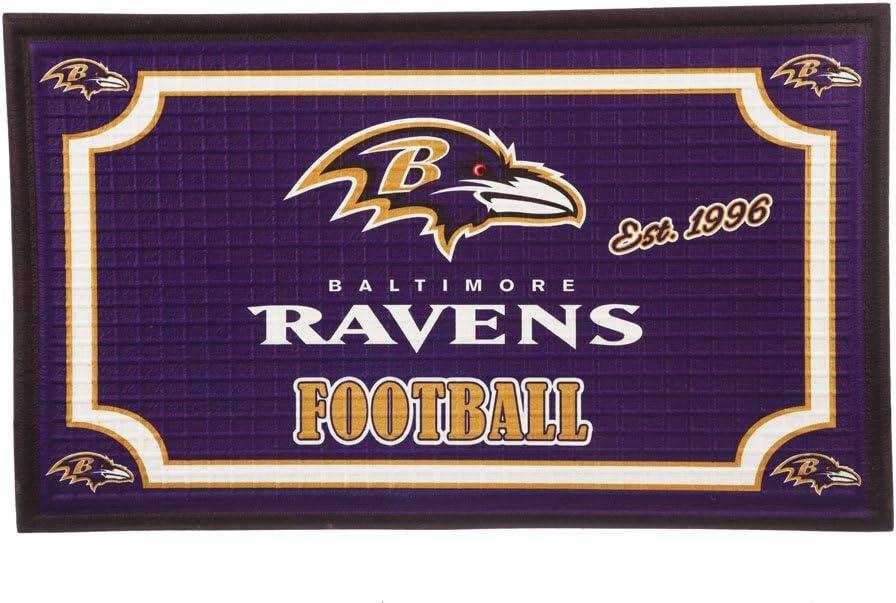 Team Sports America NFL Baltimore Ravens Embossed Outdoor-Safe Mat - 30