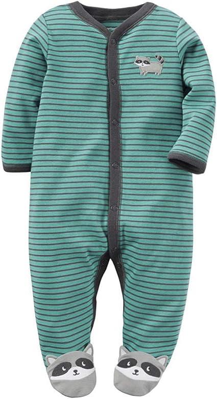 Ropa de Bebé Niño Niña Mameluco Manga Larga Mono Algodón Pijama ...