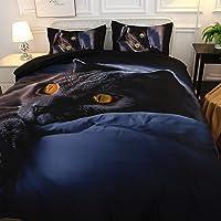 Lixada Europe and America Comfy 3D New Design Bedding Set Home Soft Cat Printing Duvet Cover Set