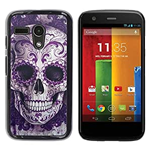 Impact Case Cover with Art Pattern Designs FOR Motorola Moto G 1 1ST Gen Rock Roll Skull Bling Floral Death Metal Betty shop