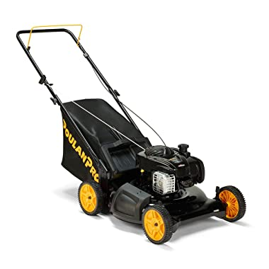 """Poulan Pro 961320101 PR550N21R3 Briggs 550 E Series Side Discharge/Mulch/Bag 3-in-1 Push Lawn Mower with 21"""" Deck"""