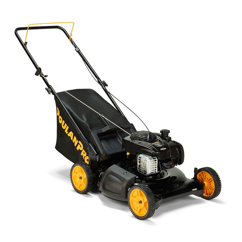 "Poulan Pro 961320101 PR550N21R3 Briggs 550 E Series Side Discharge/Mulch/Bag 3-in-1 Push Lawn Mower with 21"" Deck by Poulan Pro (Image #1)"
