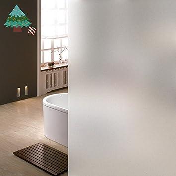 LifeTree Film Fenêtre Anti Regard Electrostatique Adhésif Occultant - Verre fenetre salle de bain