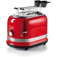 Ariete 149 rode broodrooster, 2 sneden, moderne broodrooster met tang, automatische uitworp, kruimellade, ontdooi- en…