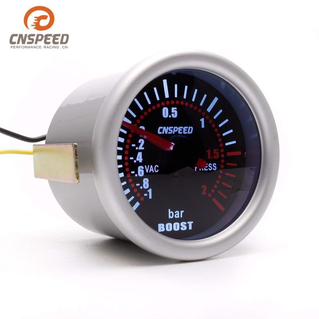 CNSPEED YC101310 Digital Universal 52mm Turbo Boost Vacío para Coche -1~2 BAR Manómetro Presión Manómetro Indicador Medidor de Humo Len LED: Amazon.es: ...