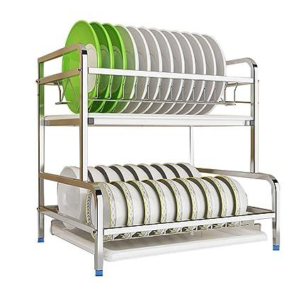 Dish rack Escurreplatos de Cocina para secar Platos, Cuencos ...