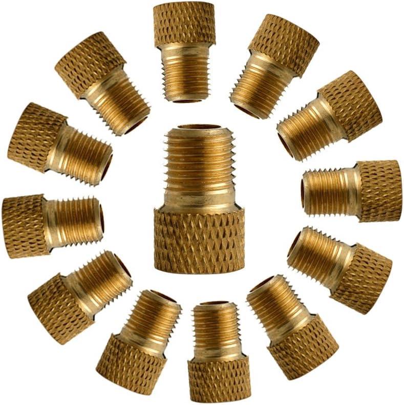 LDA frische Presta to Schrader Pump Fahrradventil Adapter Gold Pump Adapter