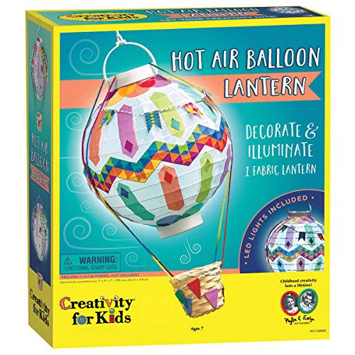 Creativity for Kids Hot Air Balloon Lantern Craft Kit - Makes 1 Light-Up Lantern